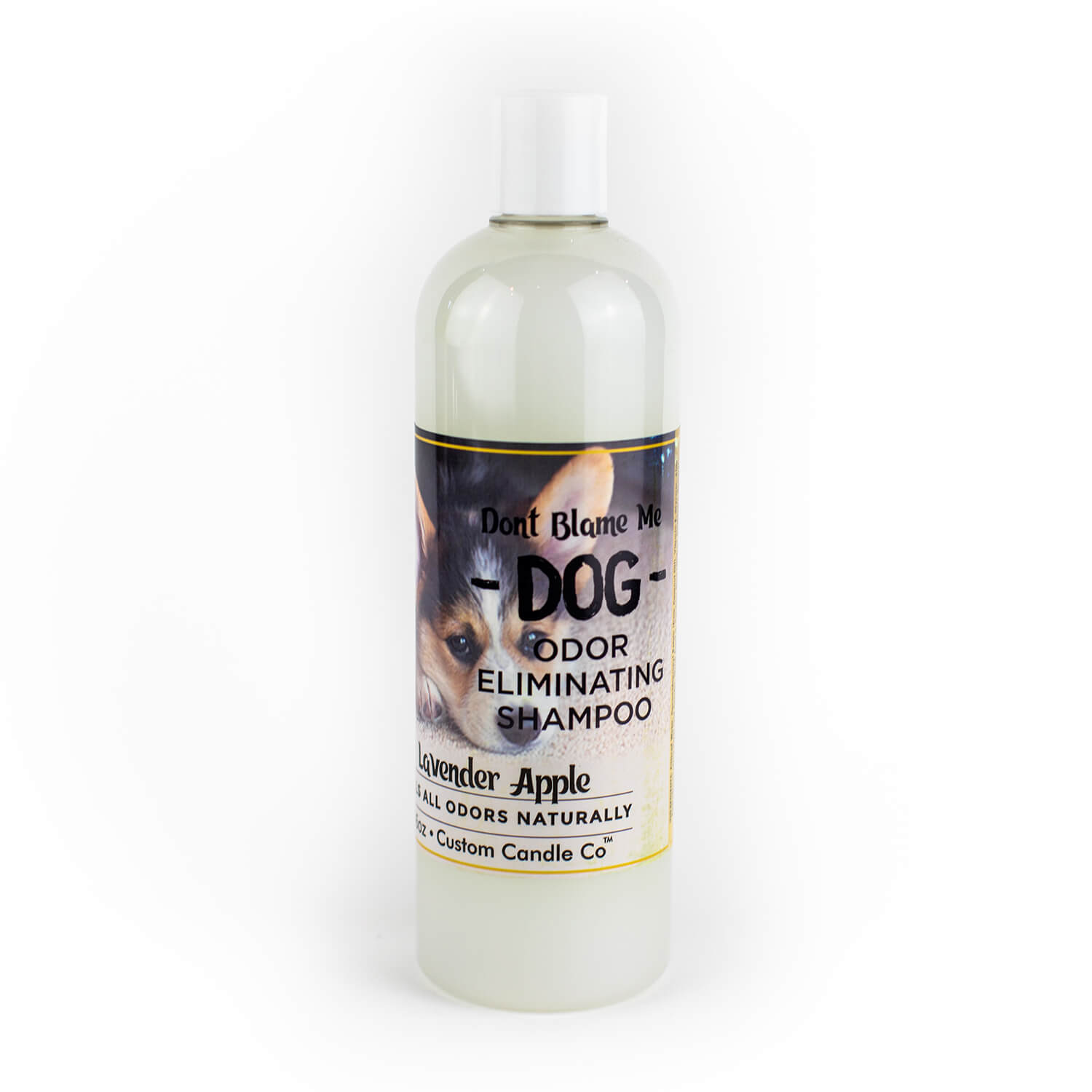 Lavender Apple Shampoo with white background