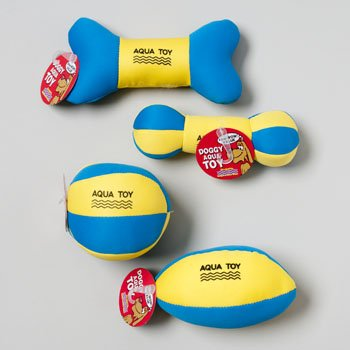 Aqua Pool Water Squeaky Dog Toys Pack of 4 Styles Floatable With Squeaker Perfect Pool Water Toys For Pet Puppies and Small Dogs