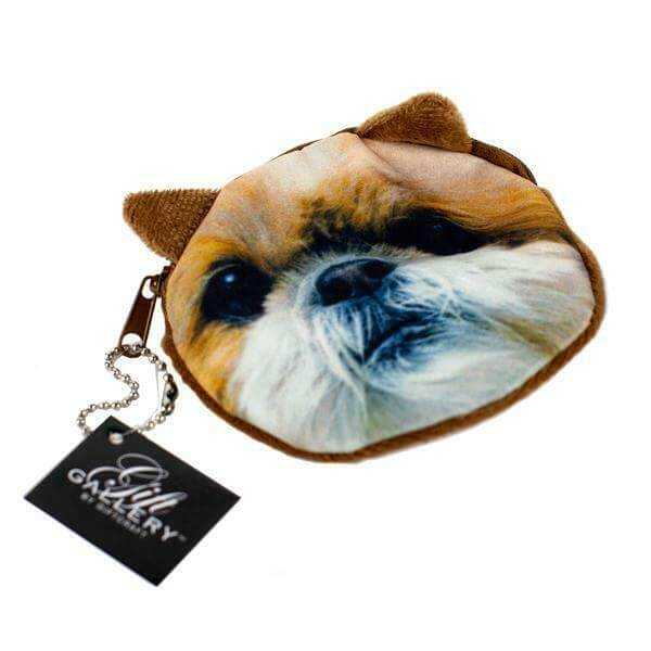 Coin pouch with Havanese face