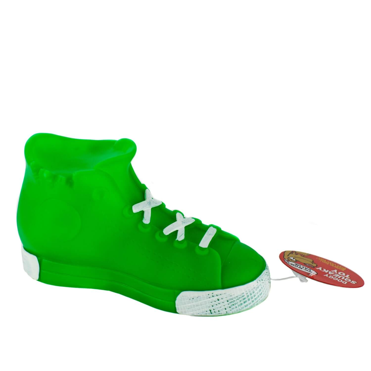 Green High Top Squeaky Toy Side View