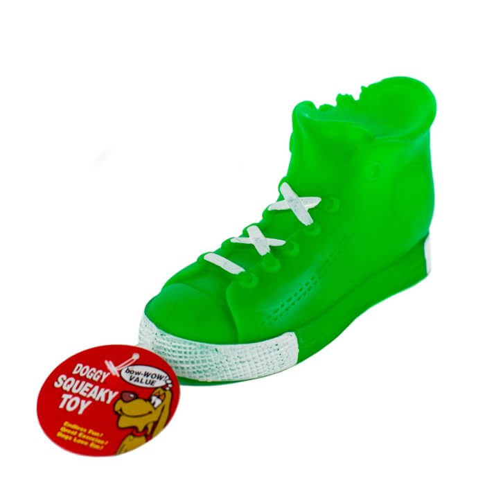Green High Top Squeaky Toy