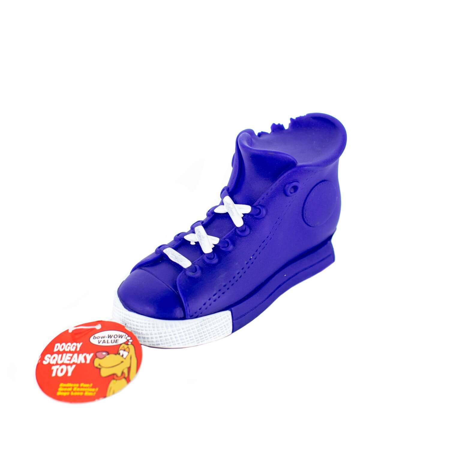 Blue High Top Squaky Toy Side View