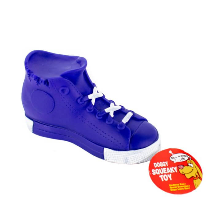 Blue High Top Squaky Toy