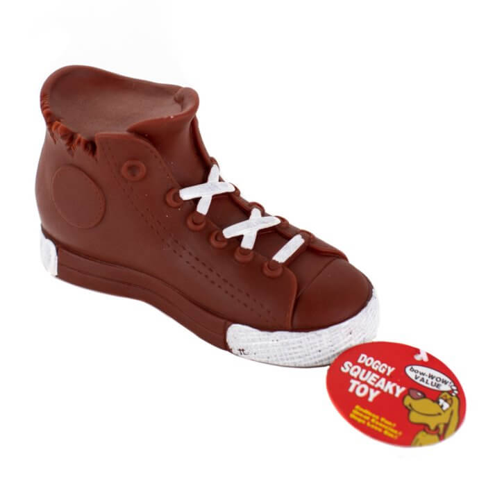 Brown High Top Squeaky Toy