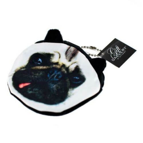 Coin pouch with pug face