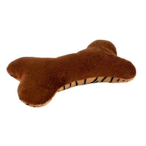 Brown Bottom of Tiger Patterned Plush Bone