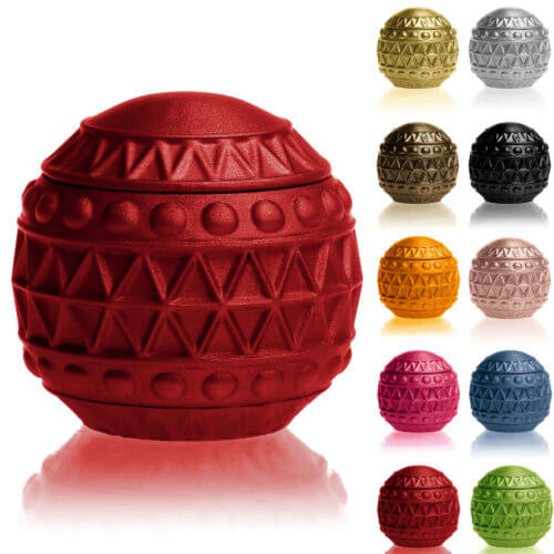Candle Concrete Christmas Bauble Red Metallic Gingerbread