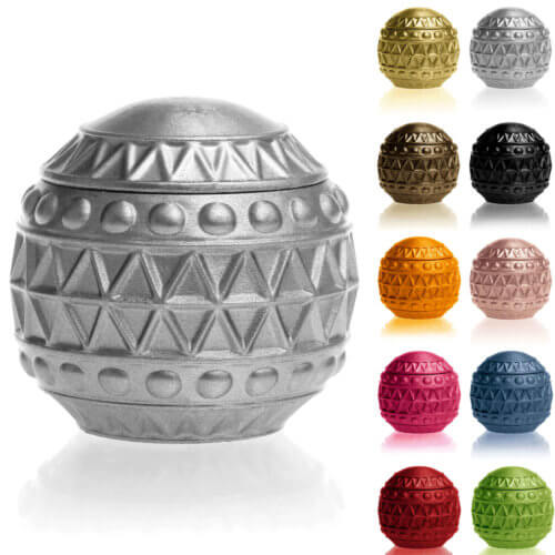 Candle Concrete Christmas Bauble Silver Gingerbread