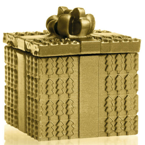 Candle Concrete Christmas Gift Gold Gingerbread