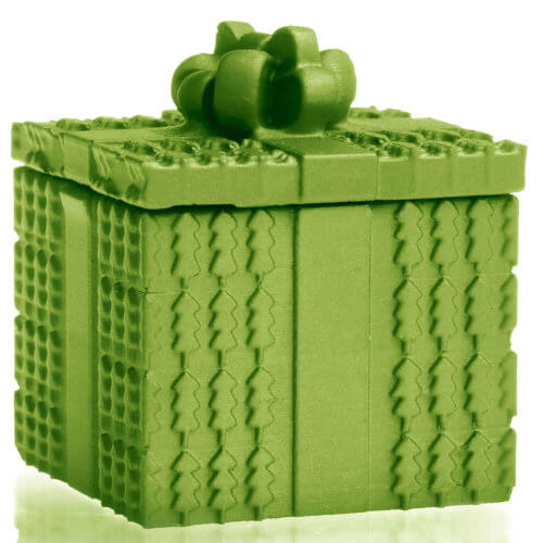 Candle Concrete Christmas Gift Green Metallic Gingerbread