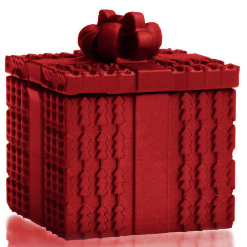 Candle Concrete Christmas Gift Red Metallic Gingerbread