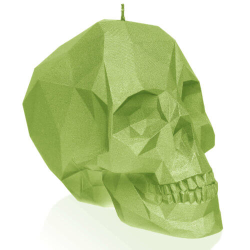 Candle Skull Small Dark Green
